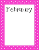 Polka Dot Monthly Classroom Birthday Pack