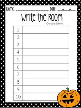 Polka Dot Monthly Write the Room Recording Sheets