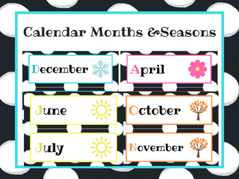 Polka Dot Months of the Year and Seasons