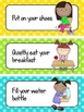 Polka Dot Morning Routine Schedule Cards