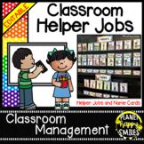 Classroom Helper Jobs (EDITABLE) ~ Polka Dot Print (Multi Colored)