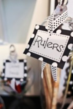 Classroom Decor Polka Dot Multipurpose Labels