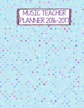 Music Teacher Binder Covers - Polka Dot