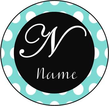 Polka Dot Name Badges
