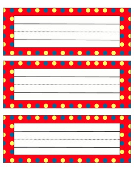 Polka Dot Name Desk Plates
