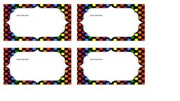 Polka Dot Name Labels