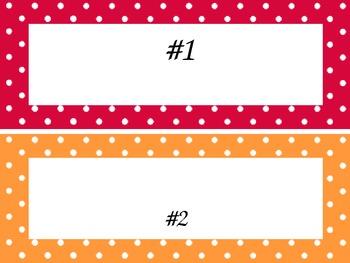 Polka Dot Name Plates