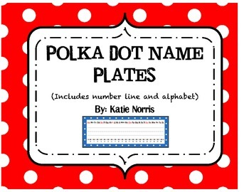 Polka Dot Name Plates