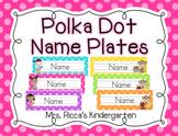 Polka Dot Name Plates (Editable)
