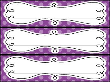 Polka Dot Name Plates: Rainbow Colors