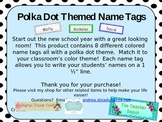Polka Dot Name Tags