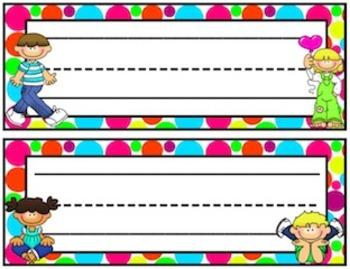 Polka Dots {Name Tags}