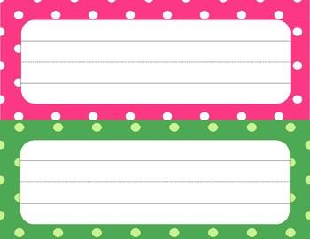 Polka Dot Name Tags