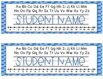 Polka Dot Name Tags -Editable