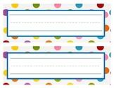 Polka Dot Name Tags and Desk Plates