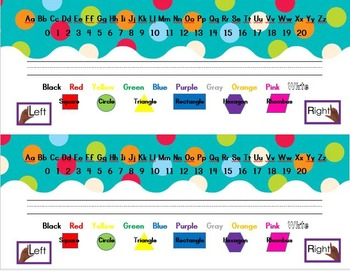 Polka Dot Nameplate Set
