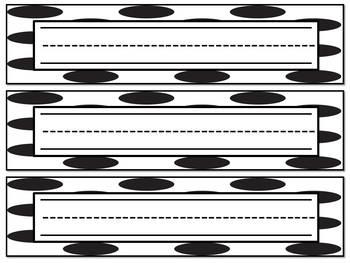 Nameplates for Desks (Polka Dot)