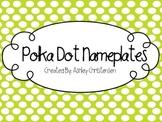 Polka Dot Nameplates