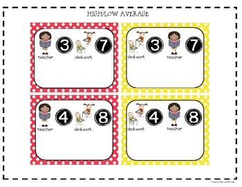 Polka Dot Nametags & Center Signs
