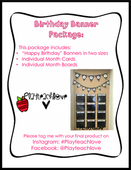 Polka Dot/Neon Birthday Banner Package