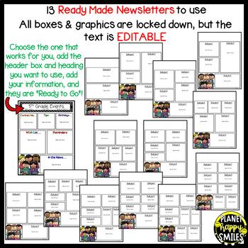 Newsletter (editable) ~ Polka Dot B/W