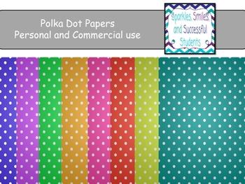 Digital Papers: Polka-Dot Not So Bright