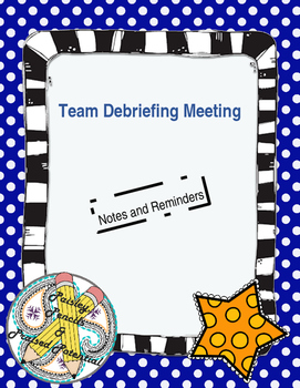 Polka Dot Notes and Reminders For Team Meeting