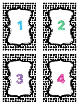 Polka Dot Number Cards 1-24