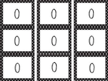 Polka Dot Number Cards
