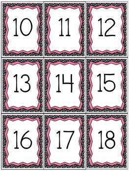 Polka Dot Number Cards (with ten frames & number words)