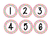 Polka Dot Number Circles 1-24