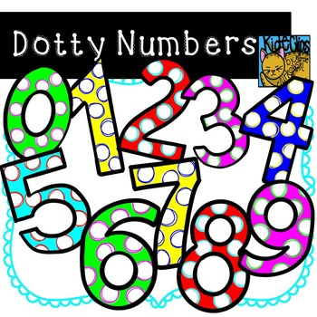 Number Clip Art Polka Dot Dotty Numbers By Kid E Clips Personal