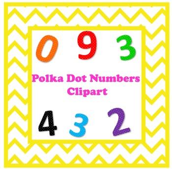 Polka Dot Number Clipart