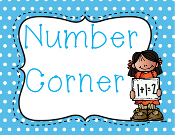 Polka Dot Number Corner Sign