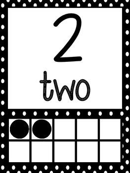 Polka Dot Number Decor 0-20