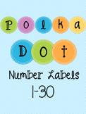 Polka Dot Number Labels Bundle