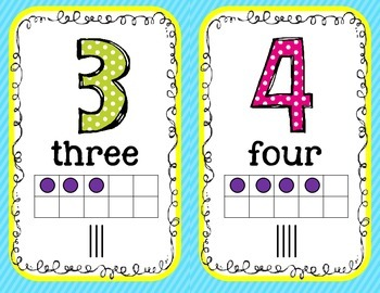 Polka Dot Number Line for #1-120