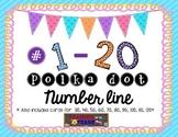 Polka Dot Number Line for #1-120