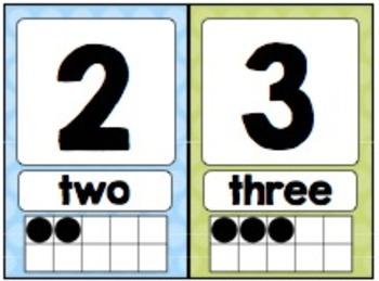 Polka Dot Number Mini-Posters (0-20)