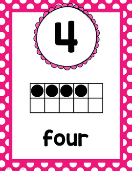 Polka Dot Number Posters-Classroom Decor