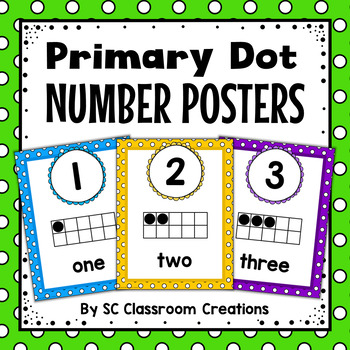 Polka Dot Number Posters (Primary Dots)