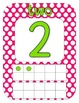 Polka Dot Number Posters {green and pink}