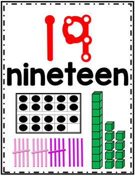 Number Posters 1-20 and Tens (30, 40, 50...)