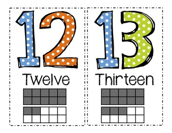 Polka Dot Number Posters with Ten Frames