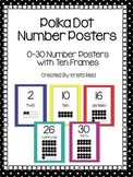 Number Posters with Ten Frames 1-30