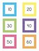 Polka Dot Square Number Cards