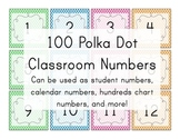 Polka Dot Number Squares! Student numbers, calendar number