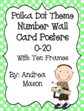 Polka Dot Number Wall Card Posters with Ten Frames
