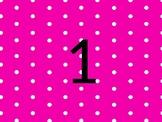 Polka Dot Numbered Cards