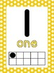 Polka Dot Numbers 0-20 Ten Frame Posters